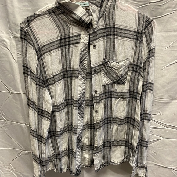 Maurices white flannel